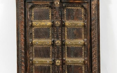 Southeast Asian Wood and Gilt Doors or Shutters