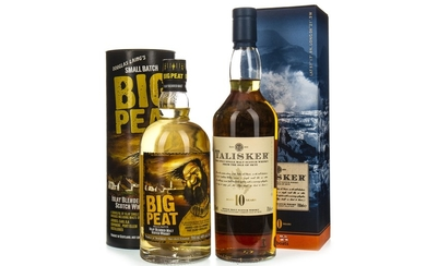 TALISKER AGED 10 YEARS AND BIG PEAT
