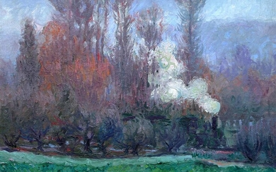 Theodore Earl Butler (American, 1861-1936) Le Train à Giverny...
