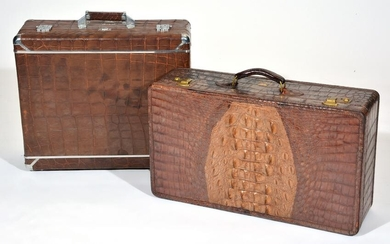 """Two 1930's Suitcases, 1 by Wheary """"The Aviatrix"""""""