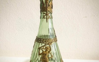 Vase - Napoleon III - Blown glass and gilded bronze sheet - Late 19th century