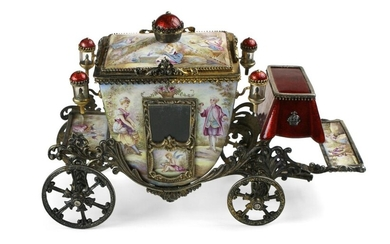 Viennese Enamel cinderella Carriage