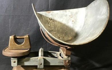 Vintage Iron Scale and Weight