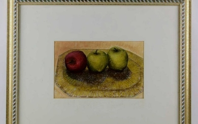 """WILLIAM E GRAMLEY (AMERICAN) """"APPLES ON A PLATTER"""""""