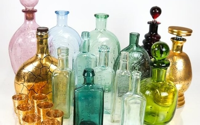 14 Various Glass Decanters, Other