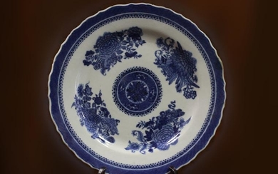 18th.C Chinese Blue and White Porcelain Plate