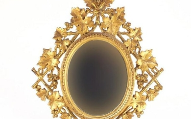 19th century Italian Florentine mirror carved with