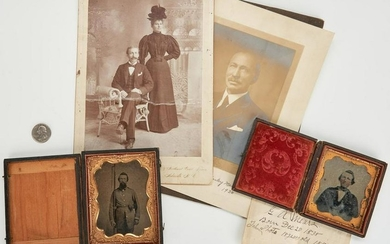 4 Mears Family Photographic Images, incl. Civil War CSA