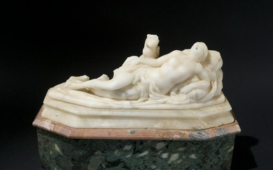 A 18th century alabaster group