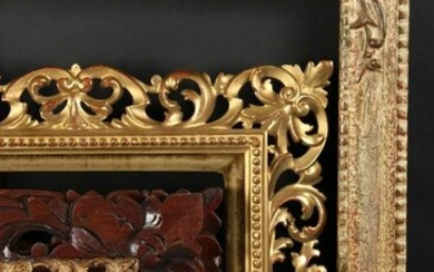 "A 19th Century Carved Florentine Frame. 13.5"" x 11.25"""