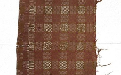 A 19th Century Welsh Wool Blanket, worked in an olive...