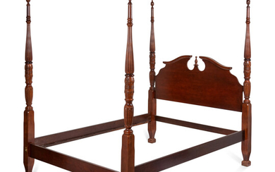 A Chippendale Style Carved Mahogany Four-Post Tester Bed