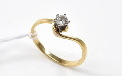 A DIAMOND RING OF APPROXIMATELY 0.25CTS, IN 18CT GOLD, SIZE P, 2.6GMS