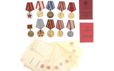 A DOCUMENTED GROUP OF SOVIET RUSSIAN MEDALS