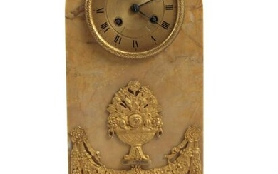 A FRENCH GILT-BRONZE MANTEL CLOCK, EARLY 19TH C