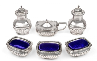 A George V Silver Condiment-Set, by Horace Woodward and Co....