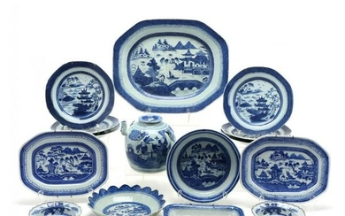 A Large Collection of Chinese Export Blue and White