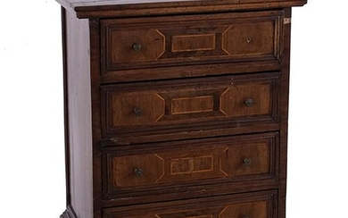 A Parquetry Inlaid Chest of Drawers.