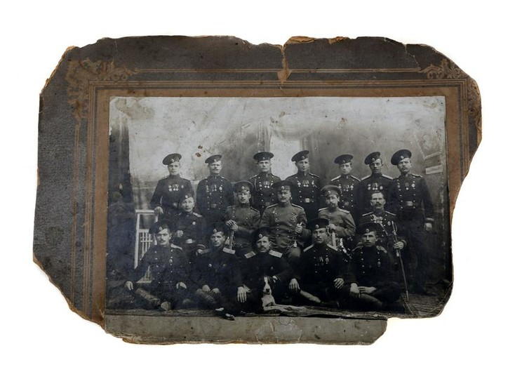 A RUSSIAN IMPERIAL ARMY GROUP PHOTOGRAPH, 19 C.