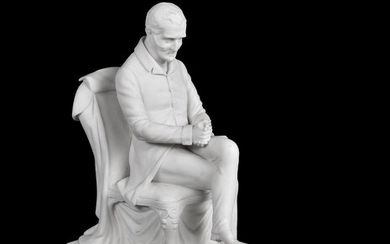 A Samuel Alcock and Co. A Parian figure of Arthur, 1st Duke of Wellington (1769-1852)