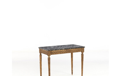 A neoclassical gilt-wood Italian console table, late 18th century (altered)