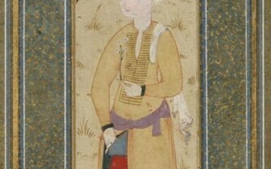 AN OTTOMAN PORTRAIT OF A HANDSOME YOUTH, TURKEY, 17TH