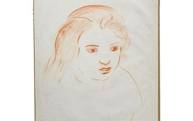 André Derain (1880 - 1954) - study of a young woman