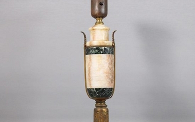 Antique Empire Marble and brass lamp