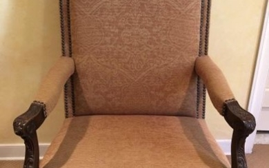 Antique French Renaissance Thrown Style Chair