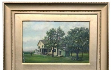 Antique Oil on Canvas Painting of North Shore, New York