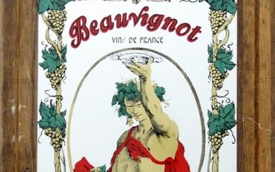Antiques, Beauvignot - Bacchus, Print on Mirror