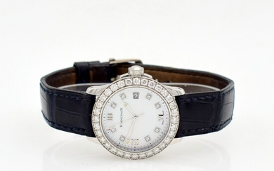 BLANCPAIN 18k white gold diamond set ladies...