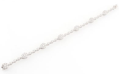 Brillant Armband zus. ca. 3,90 ct