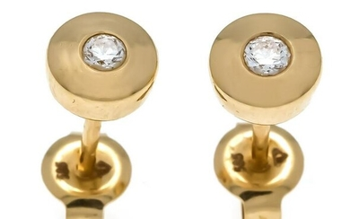 Brilliant stud earrings GG 585/000, each with one