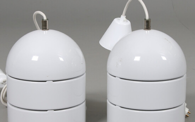 CEILING LAMPS, a pair, lacquered metal, 19 / 2000s.