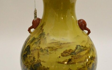 CHINESE REPUBLIC PERIOD FAMILLE ROSE PORCELAIN VASE