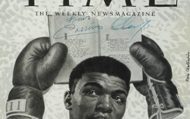 Cassius Clay Signed Photograph