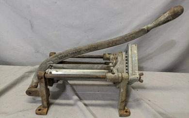 Cast Iron Bloomfield No 29 Commercial French Fry Cutter