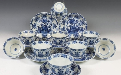 China, ten blue and white porcelain bowls and...
