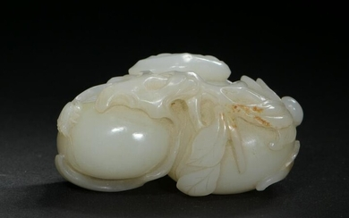 Chinese Jade Melon-Form Toggle, 18th Century