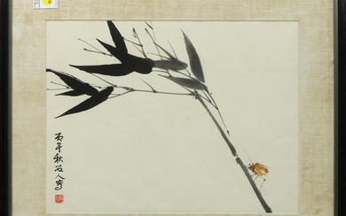 Chinese Painting, Ink, Color On Paper, Shi Ren