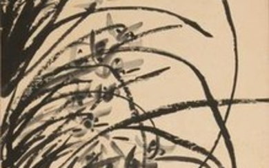 Chinese Painting of Orchids by Xiao Rongshi