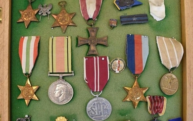 Collection of British and Polish War Medals to include,...