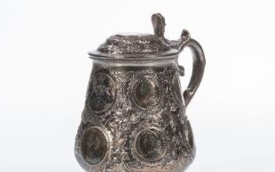 Continental Silver Coin-mounted Tankard
