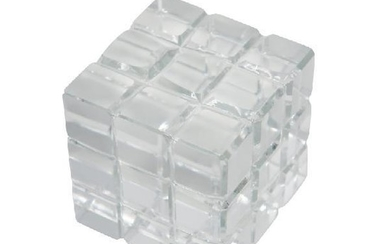 Crystal Rubik's Cube Paperweight