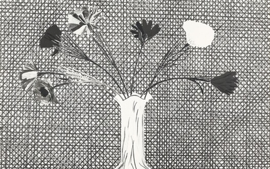 David Hockney, Flowers Made of Paper and Black Ink (S.A.C. 120; M.C.A.T. 114)
