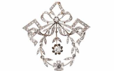 Edwardian Diamond Pendant/Brooch