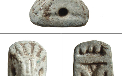 Egyptian faience stamp seal, New Kingdom - Late Period