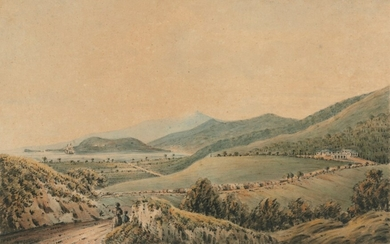 English School, 1816, View of Belmont from the residence of the Governor of Trinidad; and Cocoreete Bay, Trinidad