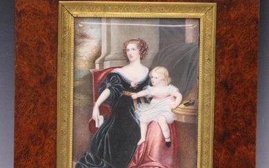 FRENCH 19TH C. PORTRAIT PAINTING, W/ FRAME